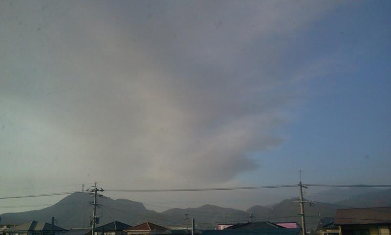 今日も桜島の灰が