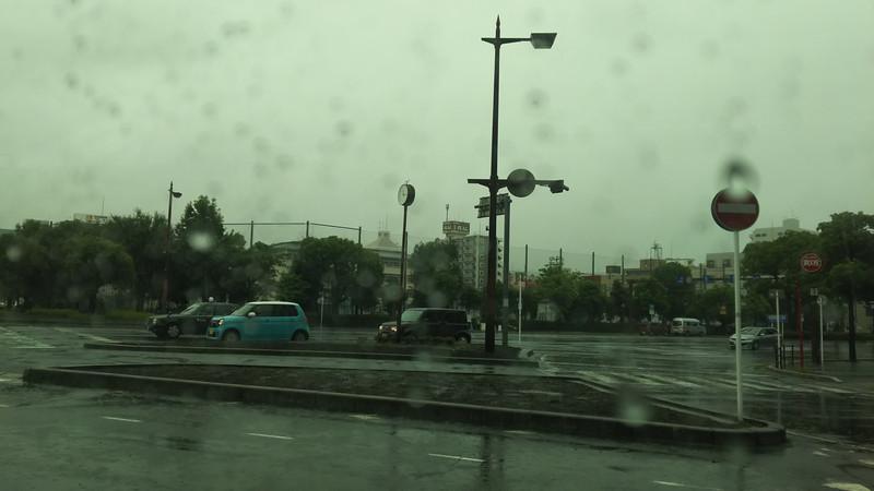 大雨です。