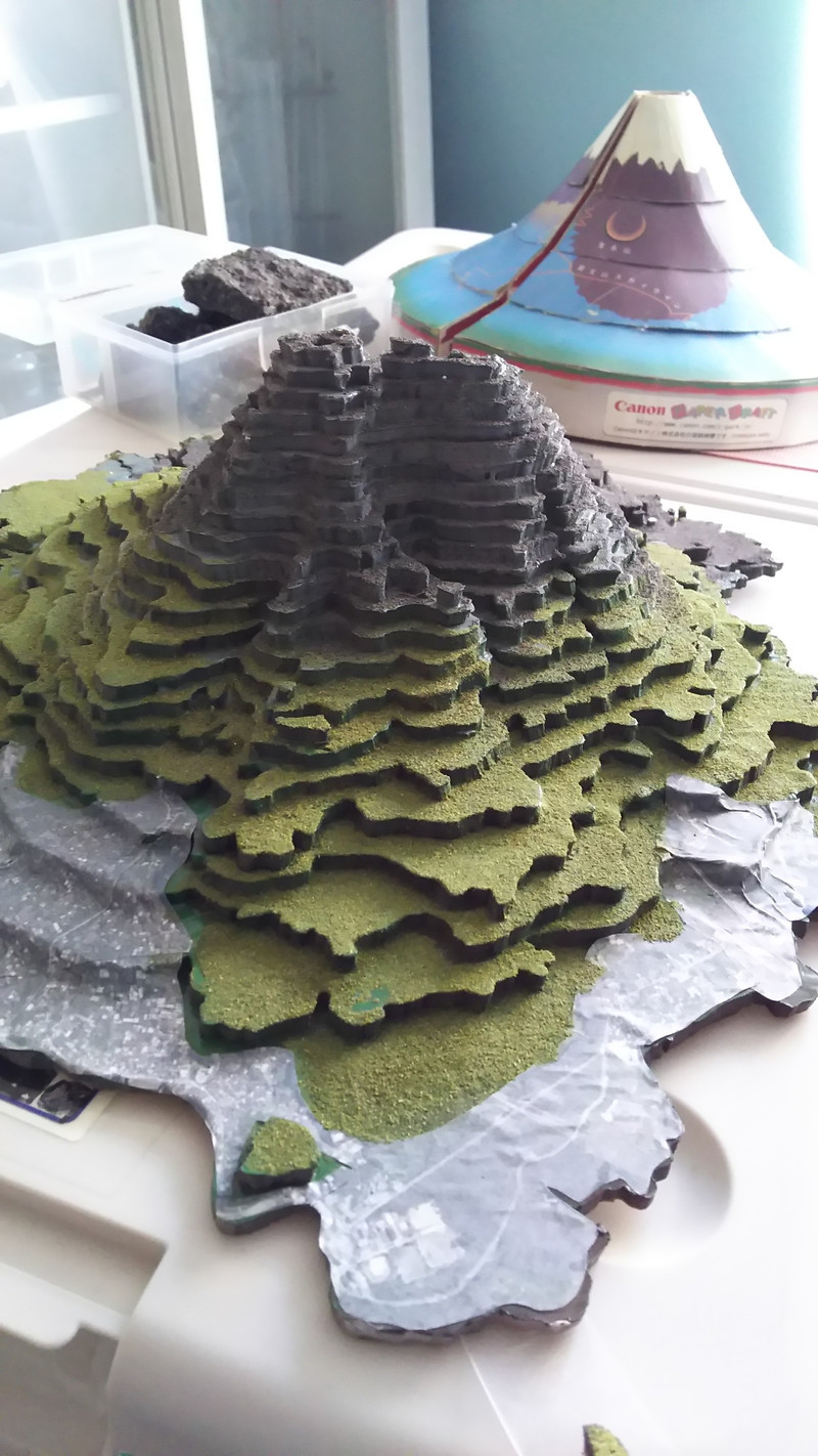 火山を教えています。